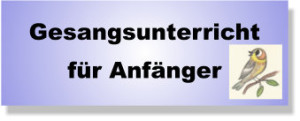 Gesangsunterricht für Anfänger Lübeck