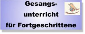 Gesangsunterricht für Fortschritte Lübeck
